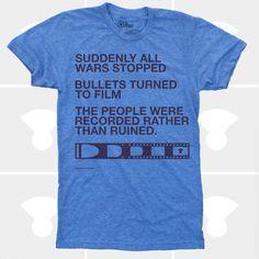 Men TShirt Film v. Bullet Men Shirt Typography by mediumcontrol
