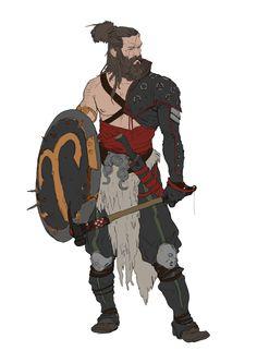 m Barbarian shield axe Marko Djurdjevic Fantasy Character Design, Character Creation, Character Design Inspiration, Character Concept, Character Art, Concept Art, Fantasy Warrior, Fantasy Rpg, Medieval Fantasy