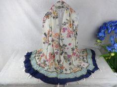 Beautiful Floral Tassels Scarf Muslim hijab, viscose Voile Scarf ,Shawls and scarves Ladies Scarves 2015