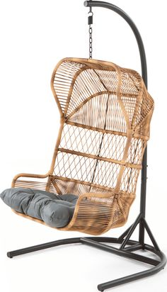 The Lyra Outdoor Hanging Chair, in Charcoal Grey. The best spot for hanging out in the garden. MADE.COM Retro Furniture, Furniture Styles, Painted Furniture, Furniture Ideas, Funny Furniture, Bedroom Furniture, Rattan Garden Furniture, Garden Chairs, Small Balcony Furniture