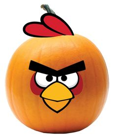 Red Angry Bird Push Ins Now your pumpkin can look just like your favorite game character! Includes: Decorate your Halloween Pumpkins with plastic push ins. Each character includes the appropriate p… Cute Halloween, Spirit Halloween, Halloween Pumpkins, Halloween Crafts, Halloween Decorations, Halloween Ideas, Halloween Stuff, Angry Birds Pumpkin, Red Angry Bird