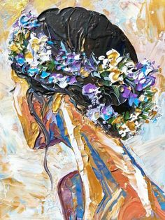 Human Painting, Painting & Drawing, Painting People, Modern Oil Painting, Oil Painting Flowers, Arte Inspo, Knife Art, Palette Knife Painting, Art And Illustration