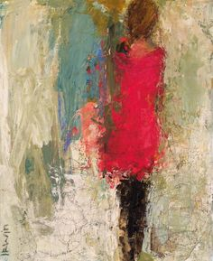 """Lost in Thought, 10x8"""", Acrylic & Mixed Media, Holly Irwin, artist dk Gallery"""