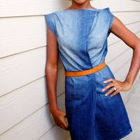 men's jeans made into a preppy denim dress! ie how we're really supposed to be wearing boyfriend jeans? Diy Clothing, Sewing Clothes, Clothing Patterns, Diy Jeans, Recycle Jeans, Men's Jeans, Jean Diy, Robe Diy, Diy Vetement