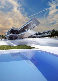 nissim villas Singapur-moderne Architektur Pool-zaha Hadid