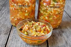 Tocana de legume pentru iarna Guacamole, Salsa, Mexican, Canning, Vegetables, Ethnic Recipes, Food, Google, Meal
