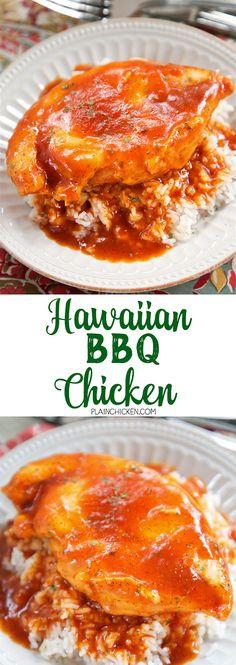 Hawaiian BBQ Chicken | Plain Chicken® #hawiianbbqchicken