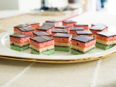 Neapolitan Cookies recipe from Valerie Bertinelli via Food Network
