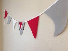 Jaws Shark Banner/ Shark Bunting/ Shark Party Decor/ Jaws