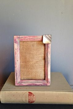 Picture Frame Wood Recycled Painted Distressed by PippinPost, $18.00