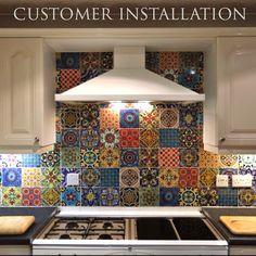 Bleucoin No. 21 Mexican Talavera Tile/wall/Stair by Bleucoin
