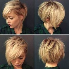 Idée Tendance Coupe & Coiffure Femme 2018 : 30 Stylish Short Hairstyles for Girls and Women: Curly Wavy Straight Hair PoPular Haircuts Pretty Hairstyles, Straight Hairstyles, Girl Hairstyles, Stylish Hairstyles, Hairstyle Ideas, Hairstyles 2016, Blonde Haircuts, Short Asymmetrical Hairstyles, Asymmetrical Bob Short