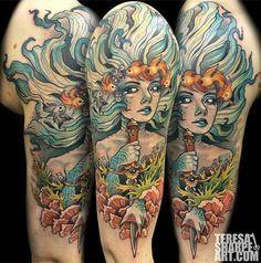 Mermaid half sleeve