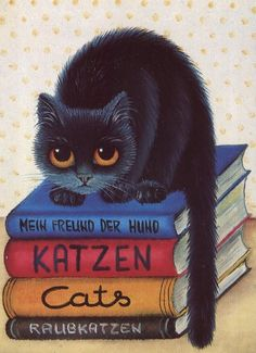 Cats, an oil painting by Anna Hollerer by WriterRen, via Flickr