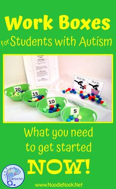 Work Boxes in Autism Work Boxes in Autism Classrooms are great to help students work towards independence! This article explains more on how, why, and what you should do next! Life Skills Activities, Life Skills Classroom, Autism Activities, Autism Classroom, Special Education Classroom, Classroom Activities, Sorting Activities, Classroom Setup, Classroom Behavior