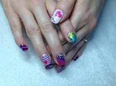 Colorful love by Melinailfreak from Nail Art Gallery