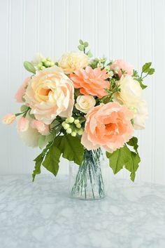 peaches-cream-arrangement-craftedtobloom-paperflowers