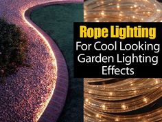 I saw this image on pinterest and thought is was a cool rope lighting idea on how to install the low voltage lighting around a garden bed… inexpensive, waterproof and you can connect it a timer!