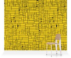 Murals of Small Computer Grid Black and Yellow by Hemingway Design (3000mm x 2400mm) | Shop | Surface View