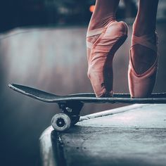 Photo. Cool. Ballet. Ballerina. Skateboarding. Pink. Graceful. Sports. Contrast. Spotted via @lastsuspect's photo on Instagram