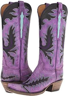 Lucchese Purple boots go with everything! Cowgirl Boots, Western Boots, Western Style, Western Wear, Western Cowboy, Mode Country, Rain Boots, Shoe Boots, Purple Boots