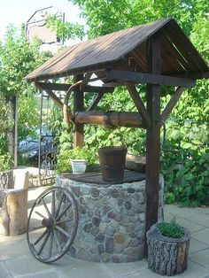 Most Popular country cottage garden ideas patio 19 ideas Garden Gazebo, Garden Yard Ideas, Garden Trellis, Garden Fencing, Patio Ideas, Wishing Well Garden, Country Cottage Garden, Water Well, Backyard Landscaping
