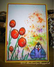 Ellen's kaartjes: Brusho en bister kaarten