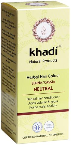 Khadi Herbal Hair Colour Neutral is a natural powder hair conditioner which adds volume & shine & helps keep your scalp healthy. The conditioner will give a conditioning effect to dark hair & a natural colour boost to blonde hair. There is not a set time for how long the conditioner needs to be left on the hair before rinsing out. The conditioner can be mixed with khadi herbal hair colour Amla, Henna, Indigo & Cassia to create your own individual hair colour. BDIH Certified. Vegan.