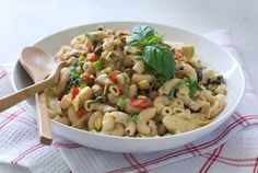 Gluten Free Pistachio Pasta Salad Recipe (Make ahead: chill and allow to return to room temp. before serving)
