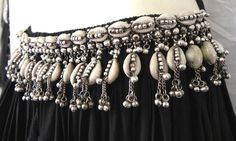Belly Dance Banjara Hip Belt India Waist ATS Kuchi Tribal Cowries Shell Jewelry | eBay