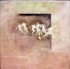 CompArte cada día: Marizo - CanariasArte  // Regateo //  óleo sobre lienzo  //  100X100 cm