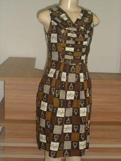 Vestido confeccionado no curso de aperfeiçoamento em modelagem e Costura.