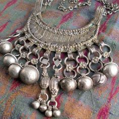 Antique Bedouin Necklace with Bells - $128.00 usd from etsy. they say bedoin but v rajasthani