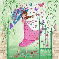 Flying Flowers by Caroline Bonne-Muller - Flying Flowers Painting - Flying Flowers Fine Art Prints and Posters for Sale