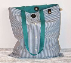 Bag from a Man's Shirt Tutorial