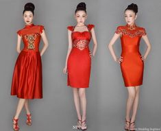 This is what the Chinese call Dragon or Tiger Red...and I would so glam it up in one of these with the high tight hair bun...ofcourse, I need to loose some weight...their dresses are Not made for the curvier female.