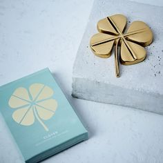 West Elm Brass Clover Object
