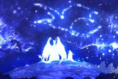 The Guardian of the Stars by ryky on DeviantArt Magical Creatures, Fantasy Creatures, Yandere, Fantasy Background, Legends And Myths, Dragon Art, Fantasy Landscape, Furry Art, The Guardian