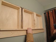 recessed shelving how to