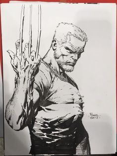David Finch (Part - David Finch (Part - Comic Book Artists, Comic Artist, Comic Books Art, Marvel Comics Art, Bd Comics, Armadura Do Batman, Wolverine Art, Black And White Comics, David Fincher