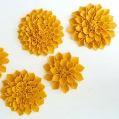 Handmade Flower Power - gorgeous felt flower tutorial