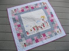 Lets Pretend Quilt - maybe using the gray dress up fabric as the center panel?