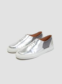 Silver + grey + white--Isa Shoes
