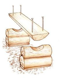 Make Your Own Rustic Log Bench - Cabin Living