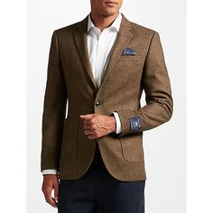 Buy John Lewis Donegal Tailored Fit Wool Suit Jacket, Rust Online at johnlewis.com