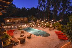 19 best market lights string lights images on pinterest backyard market lights at a backyard wedding in a starburst display over a pool aloadofball Image collections