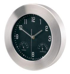 Алюминиевые настенные часы с метеорологической станцией 9aa7330a4f