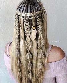 45 Unique And Chic Braid Art Design Ideas Box Braids Hairstyles, Cute Braided Hairstyles, African Hairstyles, Pretty Hairstyles, Wedding Hairstyles, Cool Braids, Braids For Long Hair, Viking Hair, Natural Hair Styles