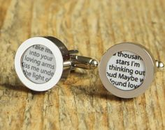 Wedding song cotton cufflinks love song gift ideas for him