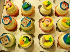Image detail for -Jake and the Neverland Pirates cupcakes — Cupcakes!